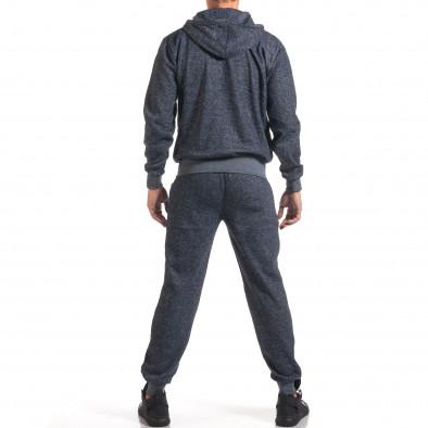 Мъжки син спортен комплект с ципове it160916-59 3