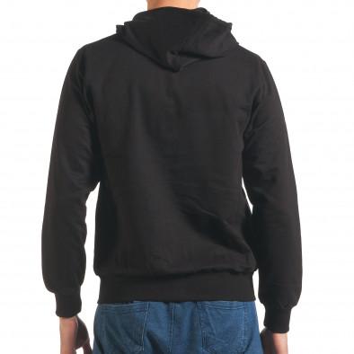 Черен мъжки суичър с цип отпред it250416-93 3