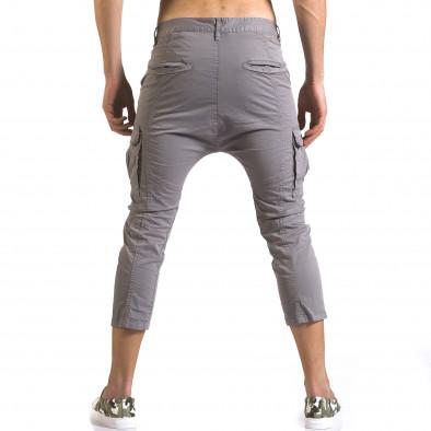 Мъжки сив панталон 7/8 с джобове на крачолите it110316-32 3