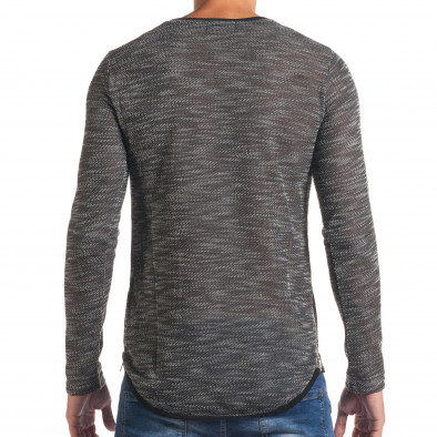 Мъжка тъмно сива блуза със странични ципове it180816-11 3