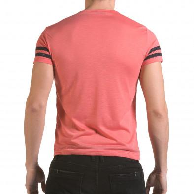 Мъжка розова тениска NYC Franklin 4