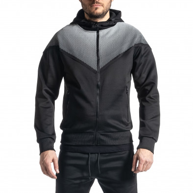 Мъжки черен анцуг Biker style it010221-53 3