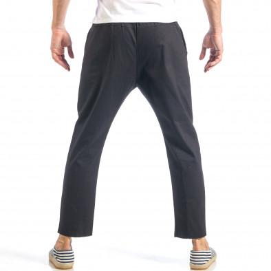Мъжки свободен панталон в черно с ластик it040518-17 4