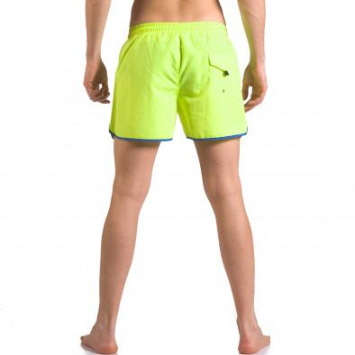 Неоново зелени бански шоорти с джобове ca050416-12 3