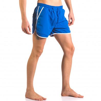 Мъжки сини бански шорти с джобове от двете страни Parablu 5