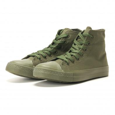 Мъжки високи кецове военно зелени iv220420-3 3