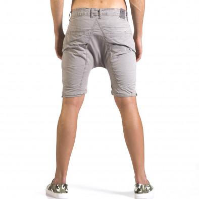 Мъжки сиви къси панталони със смъкнато дъно it110316-34 3
