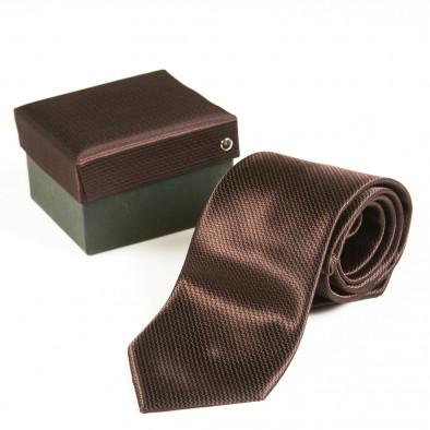 Луксозна кафява вратовръзка Fashionmix 3