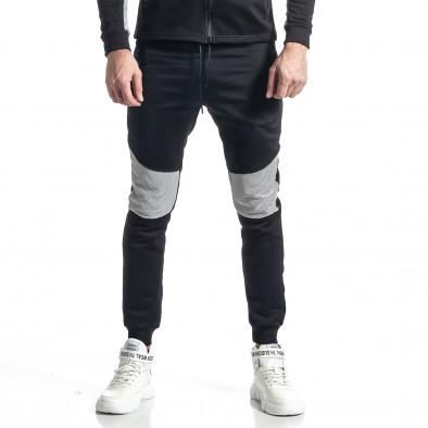 Мъжки черно-бял анцуг Biker style it010221-59 5