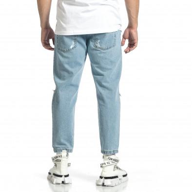 Relaxed fit мъжки сини дънки с принт it150521-41 4