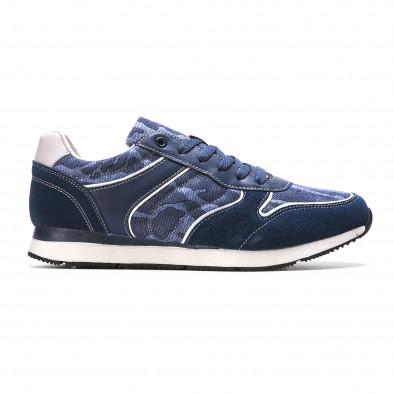 Мъжки маратонки син камуфлаж it090316-7 2