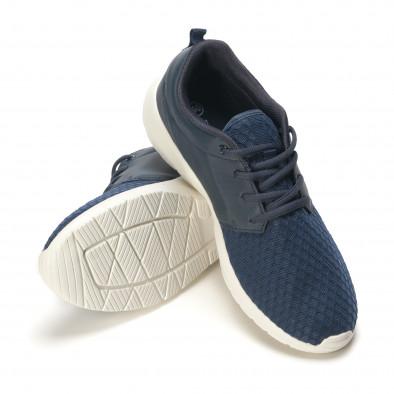 Мъжки сини маратонки олекотен модел it090616-4 4