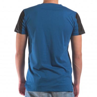 Мъжка синя тениска с геометричен принт il210616-21 3