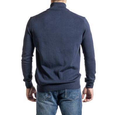 Фина мъжка жилетка с цип цвят деним tr231220-7 4