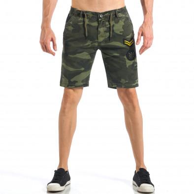 Мъжки камуфлажни къси панталони с емблеми  it110418-27 2