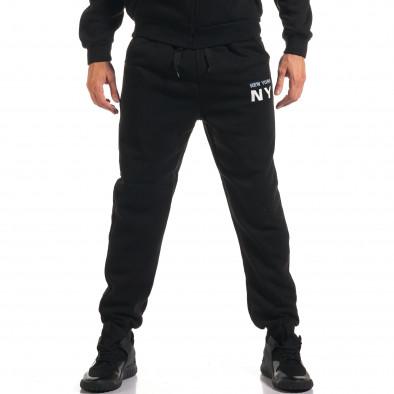 Мъжки черен спортен комплект NY it160916-64 5