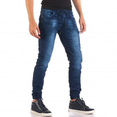 Мъжки тъмно сини дънки с връзки на кръста it150816-28 4