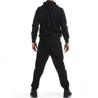 Мъжки черен спортен комплект с надпис it160916-57 3
