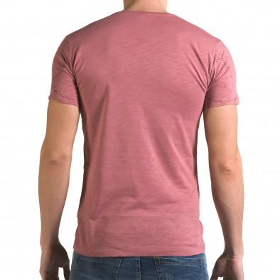 Мъжка розова тениска 48 Hours Lagos 4