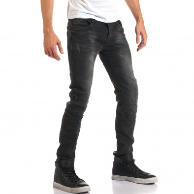 Мъжки сиви дънки с малки скъсвания it160916-18 4