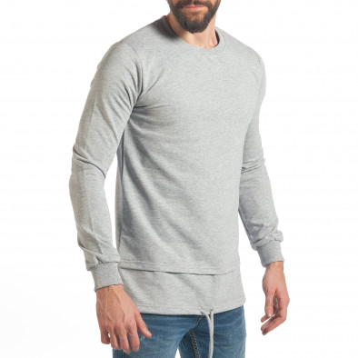 Мъжки сив суичър с връзка it290118-102 4