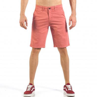 Мъжки розови къси панталони с италиански джобове it260318-137 2