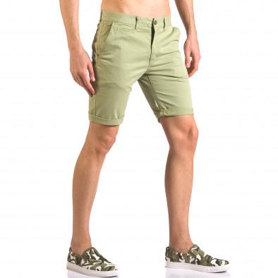 Мъжки зелени къси панталони с италиански джобове XZX-Star 5