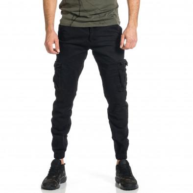 Мъжки черен карго панталон Jogger & Big Size tr270421-12 2