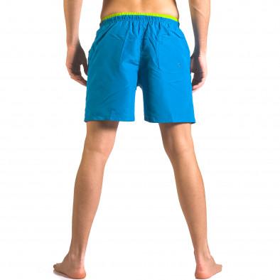 Мжки светло сини бански тип шорти с джобове отпред ca050416-24 3