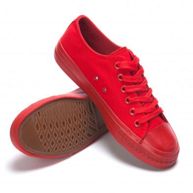 Червени мъжки кецове с връзки it190516-7 4