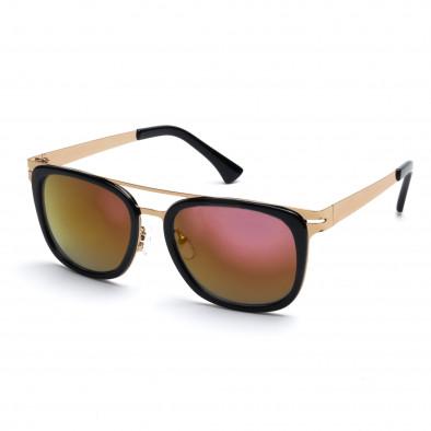 Мъжки черни слънчеви очила със златисто-розови стъкла Bright 3