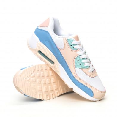 Дамски маратонки с въздушна камера нежни цветове it051219-12 4