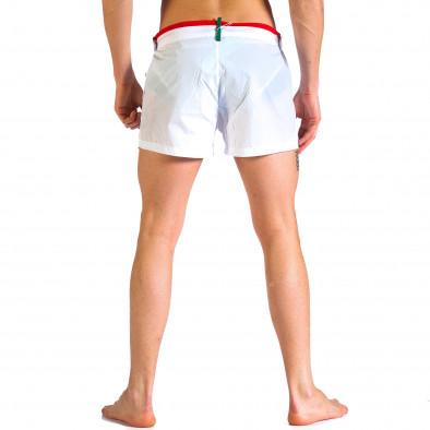 Мъжки бели бански с бандаж Justboy 4