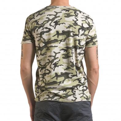 Мъжка тениска светло зелен камуфлаж Wilfed 4