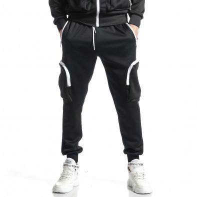 Мъжки черен спортен комплект Cagro style it010221-57 4