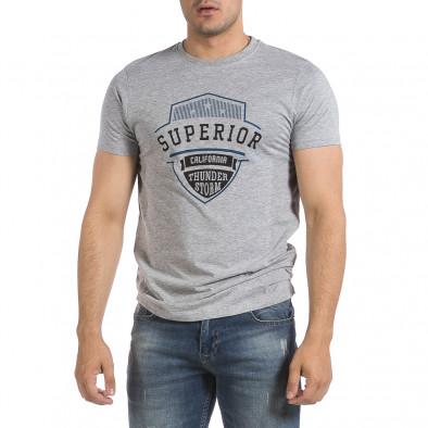 Мъжка сива тениска Superior it040621-12 2