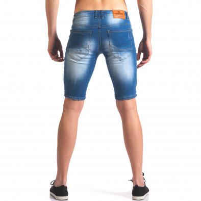 Къси мъжки дънки с избелял ефект it250416-30 3