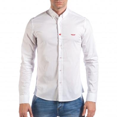 Мъжка бяла риза класически модел il060616-113 2