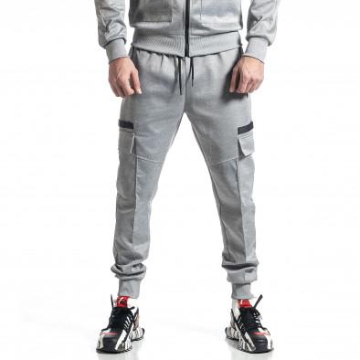 Мъжки сив спортен комплект 7джоба it010221-56 5
