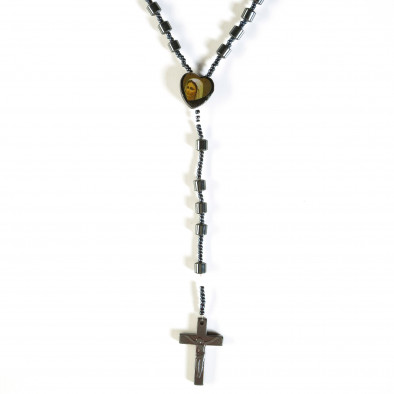 Мъжки гердан броеница с висулка кръст il160913-3 2
