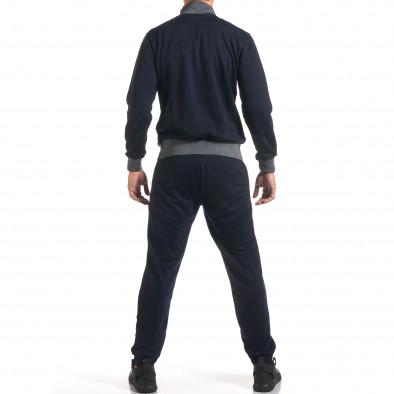 Мъжки син спортен комплект с декоративен цип it160916-78 3