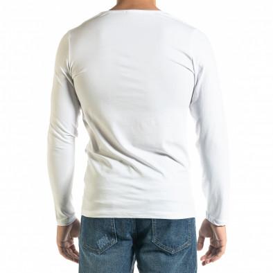 Мъжка бяла блуза Panda Skull tr020920-50 3