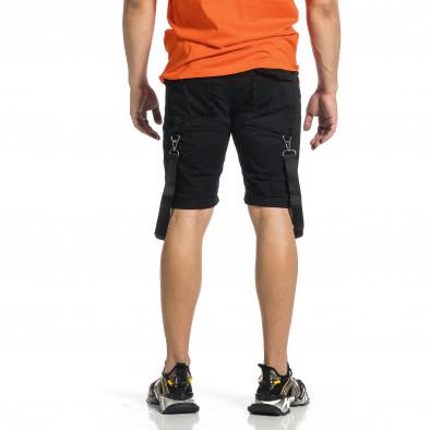 Мъжки черни къси панталони Cargo Hip Hop it150521-30 3