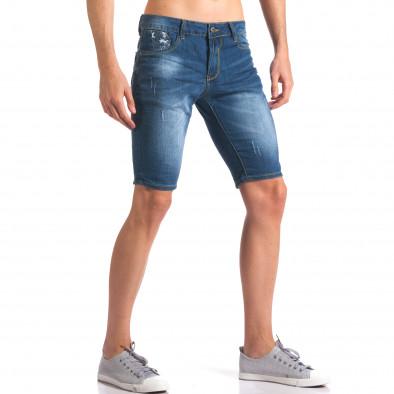 Мъжки дънкови панталони къси със скъсвания it250416-32 4