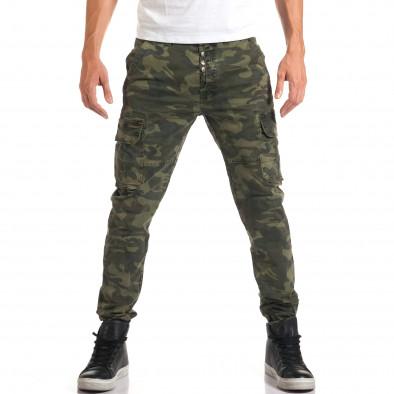 Мъжки камуфлажен панталон с джобове на крачолите it160916-2 2