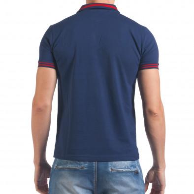Мъжка синя тениска с яка F Coach il060616-105 3