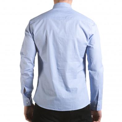 Мъжка синя риза на много фини квадратчета il170216-110 3