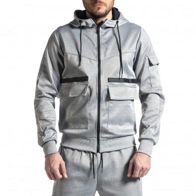 Мъжки сив спортен комплект 7джоба it010221-56 4