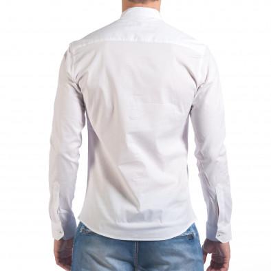 Мъжка бяла риза с попска яка il060616-110 3