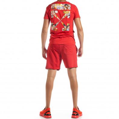 Червен мъжки спортен комплект Naruto tr010720-7 4